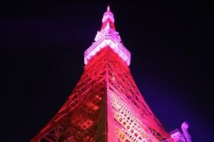 ピンクリボン 東京タワー